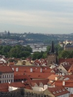 Prague, Czech Republic: an iconic view of Prague from the Prague Castle