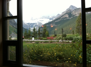 Lunch at Chateau Lake Louise