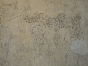 Chillon Castle prisoner drawing