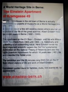 Einstein Apartment, Bern Switzerland