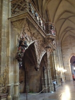 Chapel in St. Vitus Chapel built by King Rudolf II - a proponent of Mannerist style showing incomplete pillars and a less ornate look