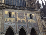 Gold mosaic inlays on the St. Vitus Cathedral