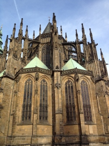 St. Vitus Cathedral, sits within the property of the Prague Castle