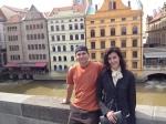 Colorful Prague buildings