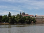 Prague Castle sitting above the Vltava River
