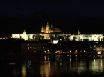 Prague Castle lit up at night