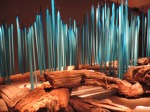 """From the Chihuly """"Turquoise Reeds"""" collection"""