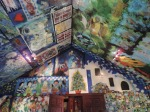 Seguin Poirier's chapel lined completely with his artwork
