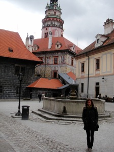 State Cesky Krumlov Castle, located approx. 100 miles south of Prague on the Vltava River, is comprised of some 40 buildings