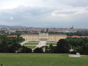 View from the Gloriette back down on the main castle