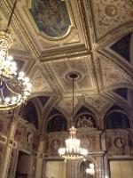 Ceiling at the Vienna Opera House, Vienna Austria