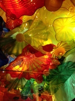 Chihuly's glass ceiling exhibit at the Montreal Museum of Fine Arts