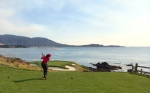 Me playing the 7th hole at Pebble Beach
