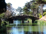 One of many bridges that cross over Redwood Creek flowing through Golden Gate Park