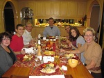 From one of our many extended family and friends gatherings to yours: Happy Thanksgiving!
