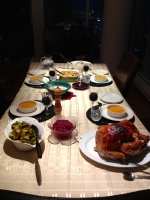 Thanksgiving spread, Calgary, Alberta