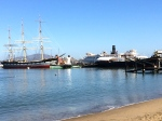 Harbored ships in San Francisco Bay