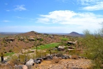 View from a high point in Fountain Hills, east of Scottsdale, looking down on one of many valley golf courses.