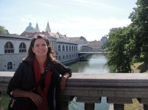One of many bridges crossing over the Ljubljana River, Old Town Ljubljana