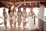 Bridesmaids sharing their words of love, wisdom and encouragement for the new couple
