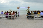 Wedding altar surrounded by guests on the beaches of Captiva Island