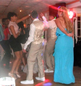 Learning a little hip-hop dancing