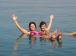 Floating along in the Dead Sea without the help of a floaty or any floaty device