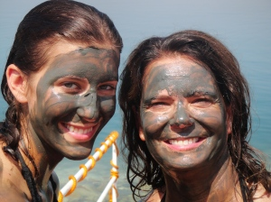 Mud monster beauties giving themselves a Dead Sea Mud facial