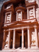 The Treasury, in the hidden city of Petra, Jordan