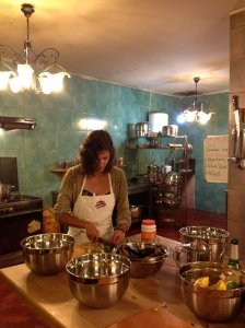 Learning to cook traditional Jordanian dishes, in a Petra restaurant that offered cooking classes