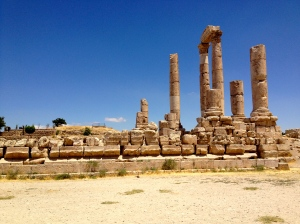 Roman ruins of the Citadel in Amman, Jordan