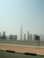 Burj Khalifa standing tall in the distance