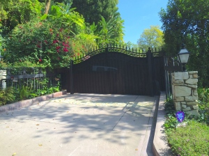 Stars line the iron entrance gate to Ringo Starr's home, Beverly Hills, CA