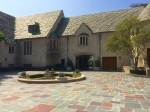 Inner courtyard to Greystone Mansion, Beverly Hills, CA