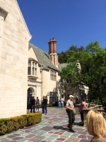 A Ralph Lauren Polo ad being shot on the back patio of Greystone Mansion, Beverly Hills, CA