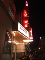 A mock-up for a Loews Theater at Sony Studios, where our dinner was held