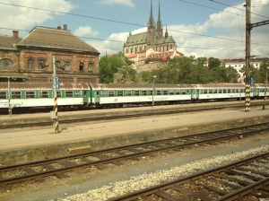 Going through one of many European train stations, with the landscape often dotted with a beautiful cathedral.