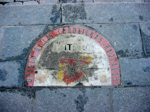 The center point of Spain - in Madrid - all roads leave from this 0Km marker