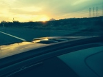 Trying to enjoy the sunset on the way to the airport, in AZ