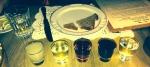 Flight of Five Vodka Shots, Mari Vanna, NYC: Honey & Oats, Horseradish, Blueberry & Cinnamon, Black Currant, Apricot