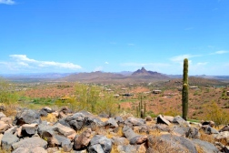 The views from atop one of the surrounding high points that line that Phoenix Valley