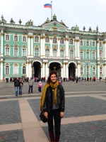 Me in front of the Hermitage