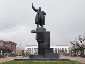 Lenin statue in Lenin Square in front of Finland Station