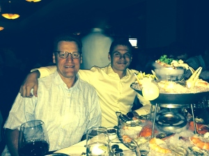 Father and son enjoying a dinner outing at our family favorite Mastro's in Scottsdale, AZ