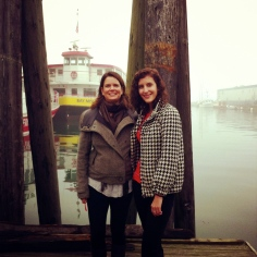 My daughter and I enjoying a foggy moment on a crisp fall day in Portland, Maine