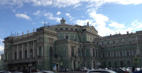Mariinsky theater showcasing the Russian ballet
