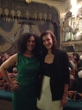 Dressing up to attend the Russian ballet at the historic Mariinsky Theater