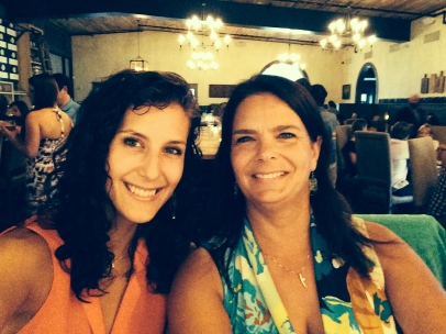 Two gals (my daughter and I) enjoying a girls night out on the town in Charleston!