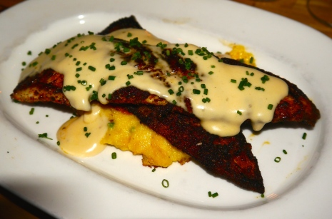 Blackened Flounder served up at Jeffrey's Grocery in the West Village of NYC