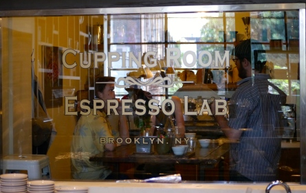 The espresso lab, where employees of Toby's Estate create specialty brews for their patrons.